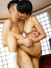 Sakura Aida has hairy slit rubbed, fingered and nailed a lot