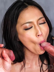 Sera Ichijo Asian has tits sucked and is fucked in double teaming