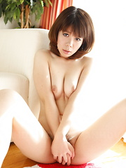 Sexy gal Sakura Aragaki shows off with joy