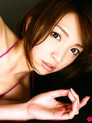 Ryoko Tanaka Asian on heels shows leering curves in lingerie
