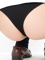 Natsuki Takahashi Asian takes short skirt off and shows hot bum